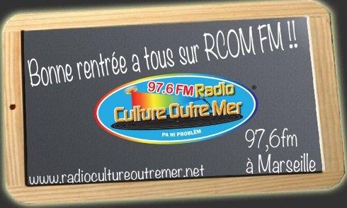 Bonne rentrée à tous sur RCOM FM
